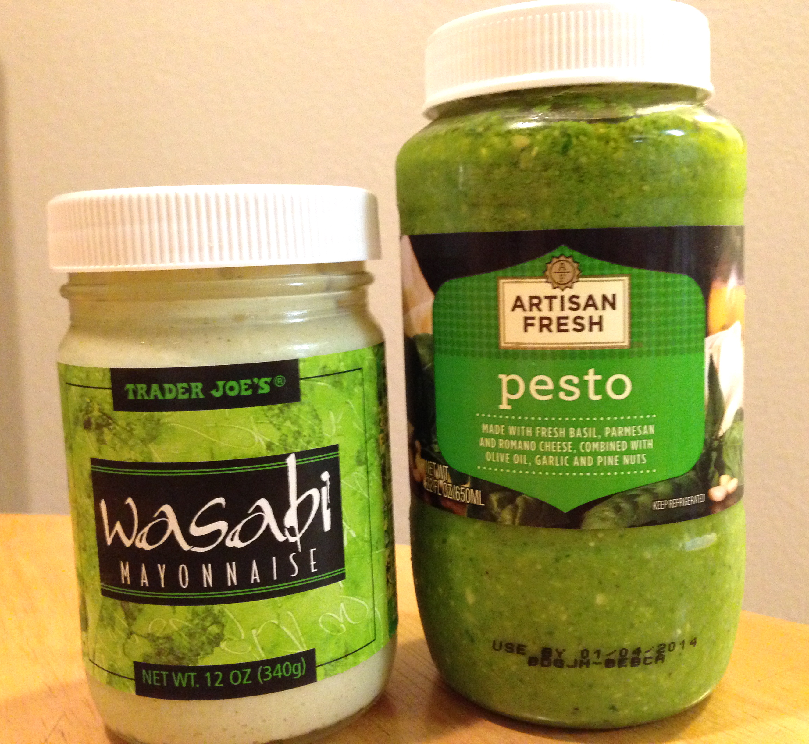 now to the sauce! i must say, wasabi mayo and pesto = an amazing ...