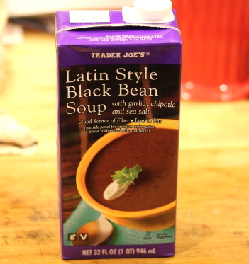 TJ black bean soup